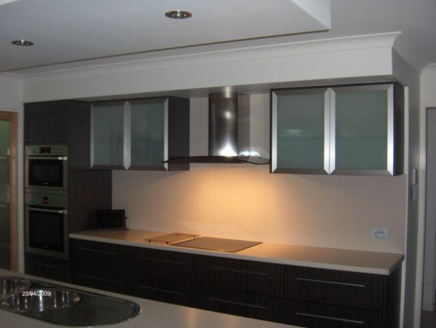 Aluminium Framed Cupboards with Glass inserts