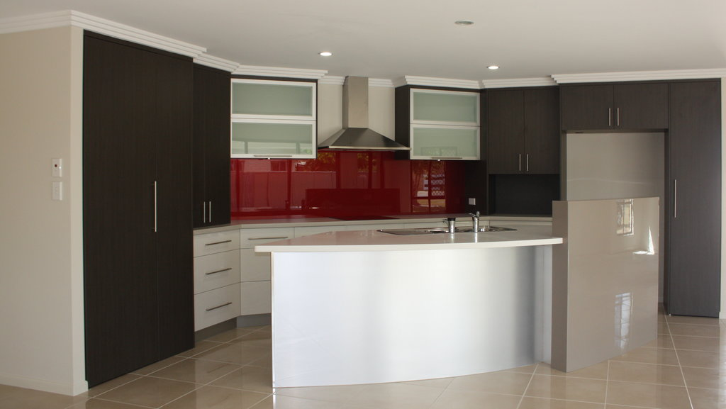 Red Glass Splashback